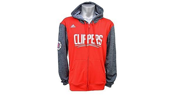 Adidas Rojo Gris de los Angeles Clippers NBA Juventud Pregame Full Zip Sudadera con Capucha, Rojo: Amazon.es: Deportes y aire libre