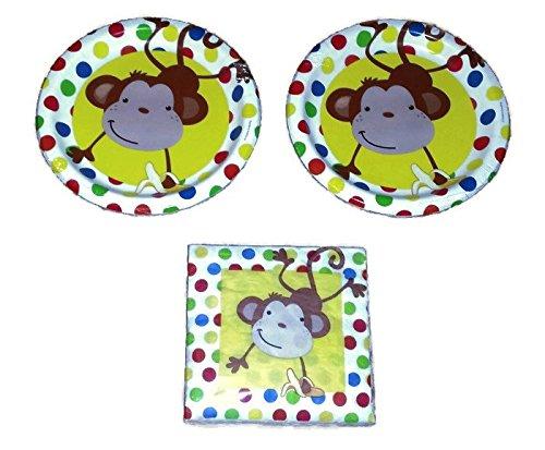 Monkey Paper Plates - 6