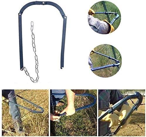 CRZJ Gartenzaun Fixierer, Home Zaun Reparaturwerkzeug, Zaun Fixierer, Trage für Zaun Gartenarbeit