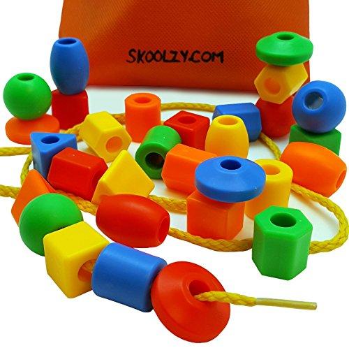 Fine Motor Toys : Skoolzy preschool large lacing beads for kids