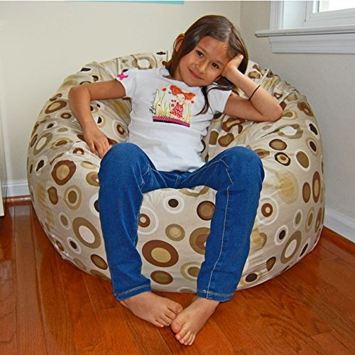Ahh! Products Bubbly Cocoa Cotton Washable Large Bean Bag Chair by Ahh! Products