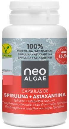 Astaxantina en Cápsulas (5 mg) con Spirulina | Producción 100% Orgánica y Natural | Potente Complejo Antioxidante | 350 mg por Cápsula | 30 Cápsulas por Envase | Neoalgae: Amazon.es: Alimentación y bebidas