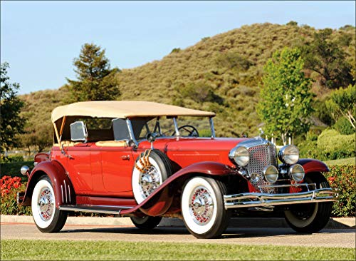 Chrysler Retro CG Imperial Dual Cowl Phaeton 1931 Red Cars Wall Art, Pop Art, Poster, Art Prints | Rare Posters