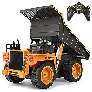 kolegend Remote Control Construction Dump Truck Construction Vehicle Toy 8