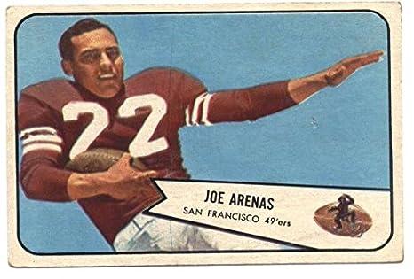 0d2fd6933 Amazon.com  1954 Bowman  30 Joe Arenas 49ers NFL Football Card EX ...