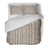 SanChic Duvet Cover Set Navajo Native Africa Abstract Apache Geometric Decorative Bedding Set with Pillow Sham Twin Size