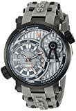 Image of Swiss Legend Men's 'Time Traveler' Swiss Quartz Stainless Steel Casual Watch (Model: 13841SM-BB-014-GRYS)