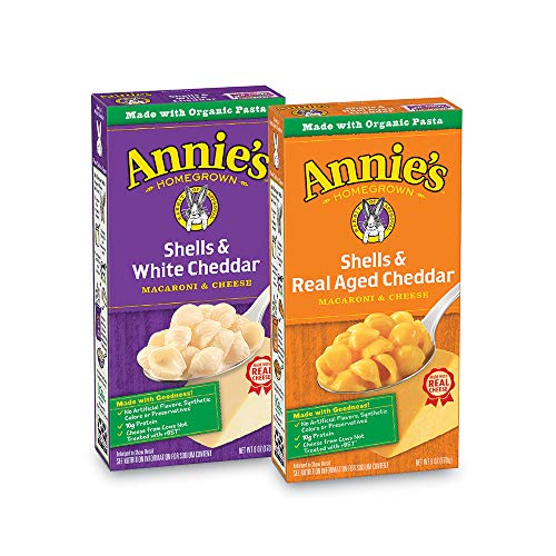 Annie's Macaroni and Cheese, Shells & Aged Cheddar, White Cheddar Macaroni and Cheese Natural, 12 Count
