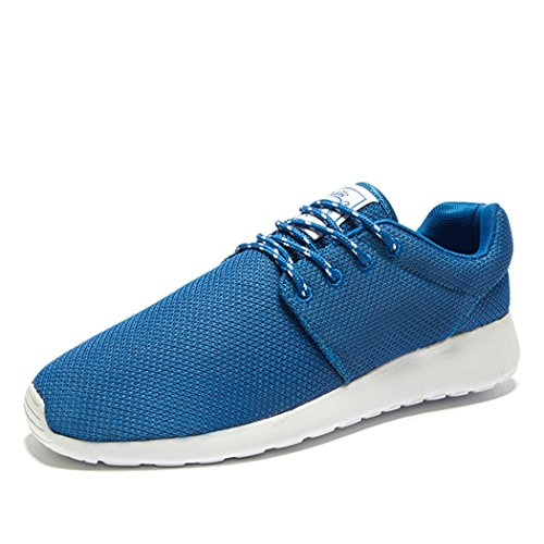 Adi Mens Breathable Comfortable Lace-Up Running ShoesWalkBeach AquaOutdoorExerciseAthletic Sneakers EU42 Blue