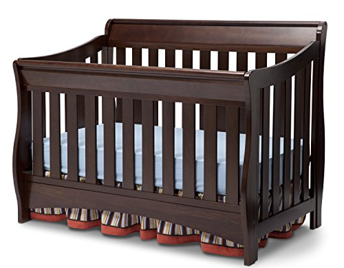 Delta Children Bentley S Series 4-in-1 Convertible Baby Crib, Chocolate