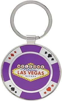 Schlüsselanhänger Las Vegas Schild Casino Chip Schlüsselanhänger Las Vegas Souvenir Und Geschenk Violett Bürobedarf Schreibwaren