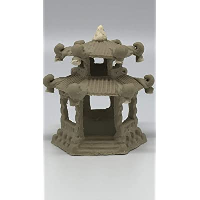 Chinese Vintage Pagoda Figurine for Bonsai Tree, Zen Garden & Fish Tanks # 7522: Garden & Outdoor
