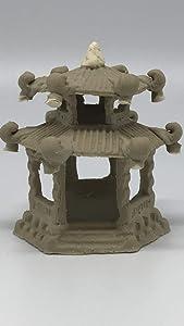 Chinese Vintage Pagoda Figurine for Bonsai Tree, Zen Garden & Fish Tanks # 7522