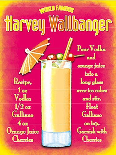 Metal Sign - Harvey Wallbanger Plaque métal - Metal Sign ...