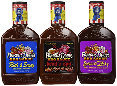 Famous-Daves-BBQ-Sauce-Variety-Pack-Devils-Spit-Sweet-Zesty-and-Rich-Sassy