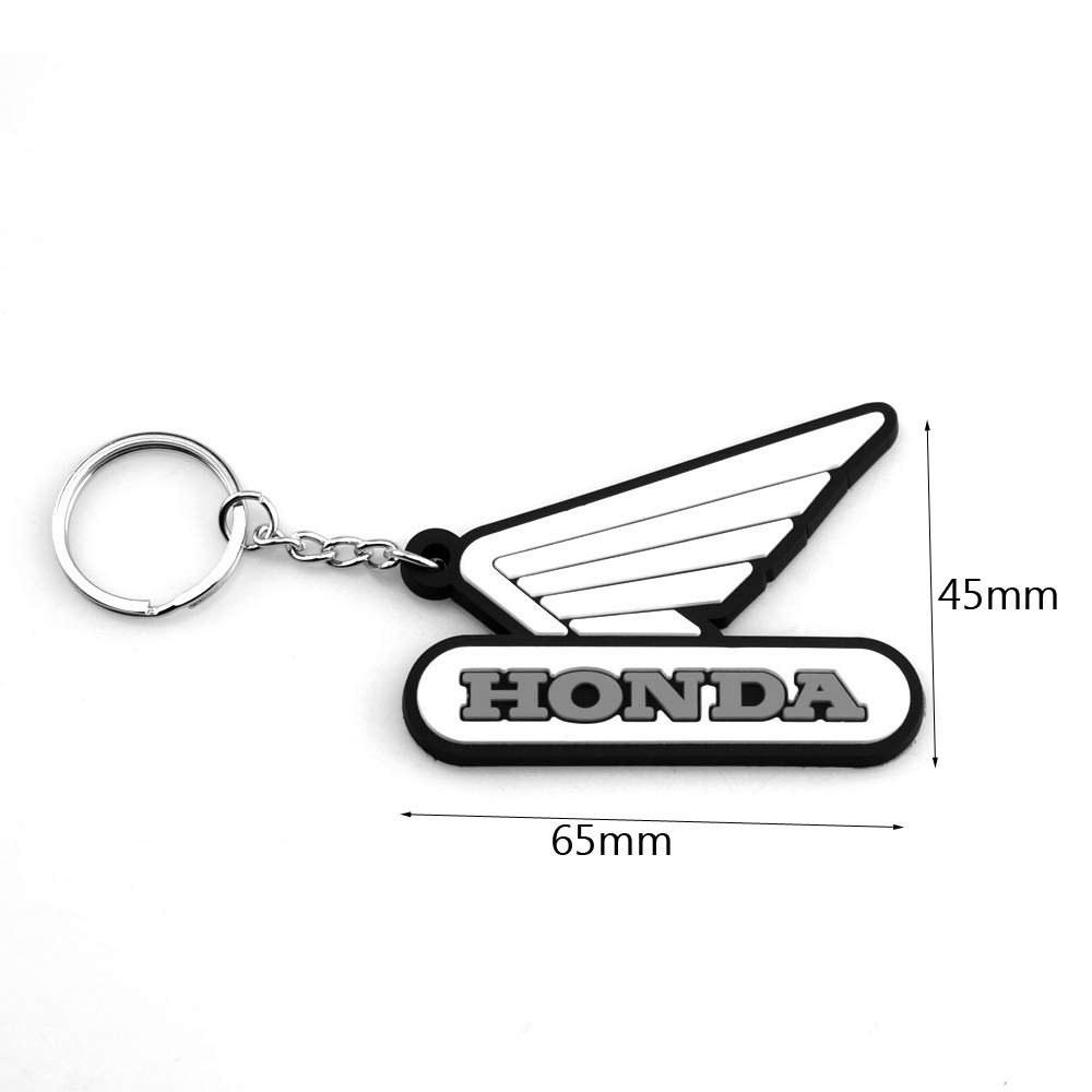 Perfect Decoration Motorcycle Bike Rubber Keychain Motocross For Honda Black