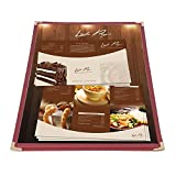 NEW Set of 30 Commercial Burgundy Trim 1-Page 2-View Restaurant Cafe Menu Covers/Folders