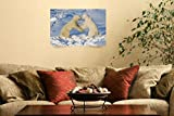 Wall Art Print entitled Polar Bears Wrestling And Play Fighting At Churchi by Design Pics