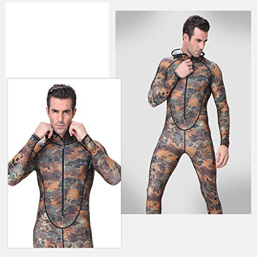 Allywit New Men Camouflage Camo Wetsuit for Scuba Freediving Spearfishing Swimming Jumpsuit Plus Size by Allywit (Image #5)