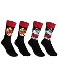 The Big Bang Theory Official Gift 2 Pair Mens Dress Socks Bazinga!