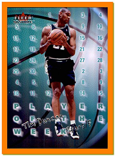 2000-01 Fleer Mystique Player of the Week #PW4 Tim Duncan SAN ANTONIO SPURS WAKE FOREST DEMON (Wake Forest Player)