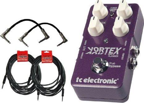 新規購入 【 Vortex 並行輸入品】】 TC Electronic Vortex Flanger ペダル ペダル w/4 FREE Cables B00JEFE4XQ, カマガヤシ:31d2c6c6 --- a0267596.xsph.ru
