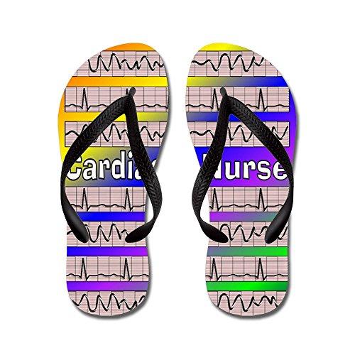 Infermiera Cardiaca Cafepress - Infradito, Sandali Infradito Divertenti, Sandali Da Spiaggia Neri