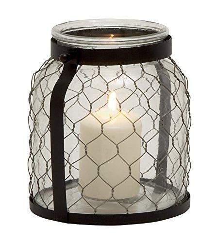 Deco 79 24042 Metal Glass Lantern, 8