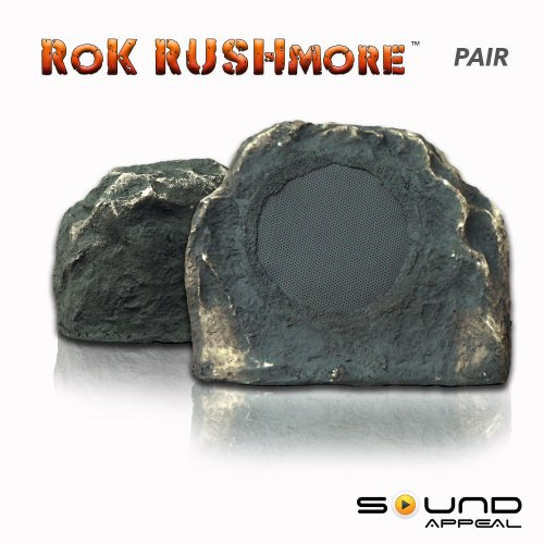 """Outdoor Rock Speakers Grey Slate 6.5"""" (pair) - RoK RUSHmore by Sound Appeal"""
