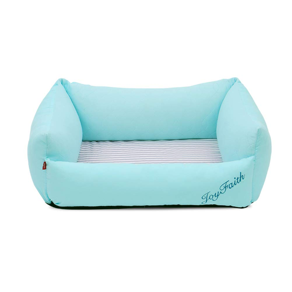 70×58×25cm Pet Dog Bed For Dogs & Cats, Indoor Pet Houses Comfortable Dog Bed Removable and Washable Pet Nest bluee (Size   70×58×25cm)
