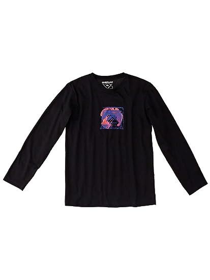 Quiksilver - Camiseta de manga larga - para niño negro 12 años ...