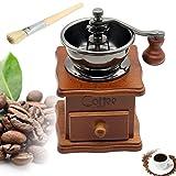 Vintage Style Wooden Coffee Grinder - 8th team Manual Hand Coffee Bean Mill Grinder Coffee Grain Burr Mill Coffee Machine