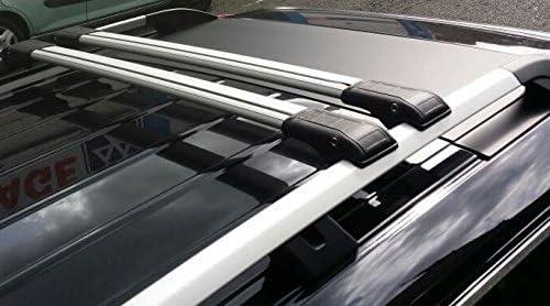 para Peugeot 2008 SW del 2004/en adelante Barra para bacas de aluminio para coche con cerradura antirrobo en cruz