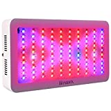 Homdox 300w Grow Light Lights Full Spectrum Plant Bulbs Plant Growing Bulb for Office, Home, Indoor Garden Greenhouse Plants Veg and Flower with 3 Cooling Fans and Larger Lighting Area