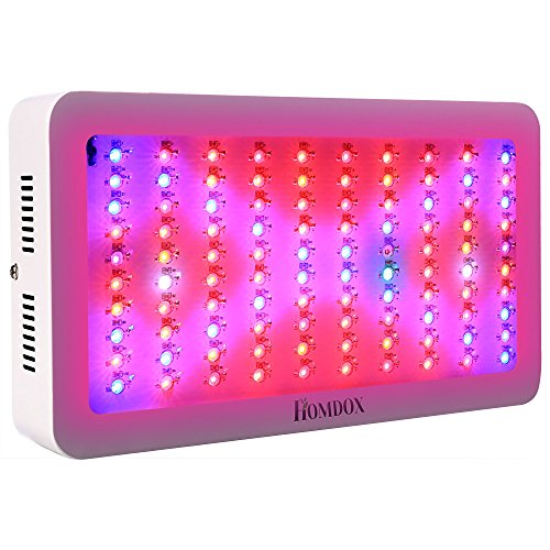 Homdox 300w Grow Light Lights Full Spectrum Plant Bulbs Plant Growing Bulb for Office, Home, Indoor Garden Greenhouse Plants Veg and Flower with 3 Cooling Fans and Larger Lighting Area by Homdox