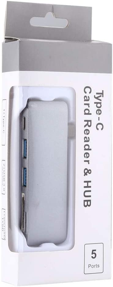 Card Reader /& HUB for iPhone /& iPad /& iPod /& Most Android Smartphones /& PC Computer USB-C//Type-C /& 2USB 3.0 /& Micro SD /& SD Computer /& Networking 5-Ports
