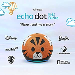 Best Epic Trends 51Js076jluL._SS300_ All-new Echo Dot (4th Gen) Kids Edition | Designed for kids, with parental controls | Tiger