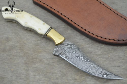 Leather-n-dagger | Professional High Quality Custom Handmade Damascus Steel Hunting Skinner Knife (100% Satisfaction Guaranteed) Ld150