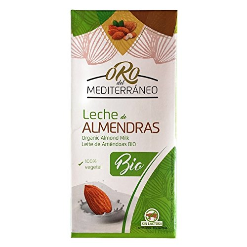 Leche de Almendras Bío ORO DEL MEDITERRÁNEO 1 litro [Pack 8 ud]