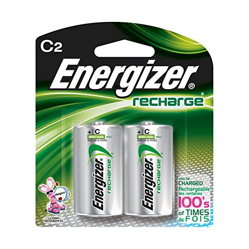 Energizer NH35BP-2 C2 Rechargeable, Size C, 2 Count, 0.5