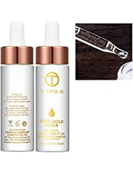 Facial Whitening Moisturizer Oil Makeup Set Skin Care 24K Rose Gold Foil for All Skin Types
