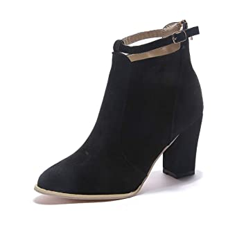 HCBYJ Tacones Zapatos de Mujer otoño e Invierno Zapatos de Mujer Martin Botas de algodón de algodón PU y Botines Botas de tacón Alto: Amazon.es: Deportes y ...