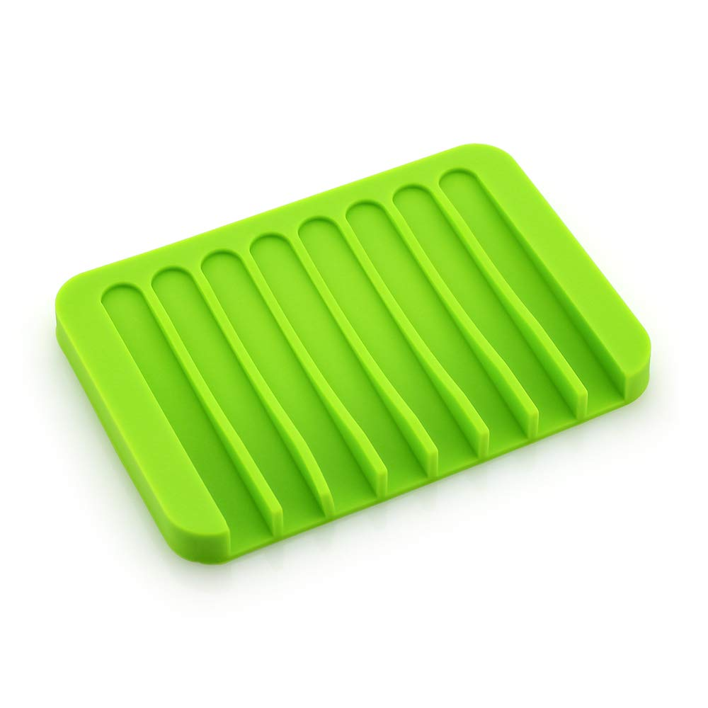 Shenhai Rongchuang Meet Prince Creative Silicone soap Holder soap Box soap Tray Drain soap Storage Rack Gray Camouflage 4 Pieces