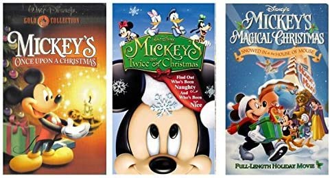Amazon Com Mickey S Magical Christmas Mickey S Once Upon A Christmas Mickey S Twice Upon A Christmas Vhs Movies Tv