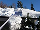 Roof Snow Rake Removal Tool 20 Ft with Adjustable Telescoping Handle Will Relieve Your House of The Heavy Snow