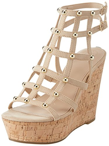 Natur white Guess Sandal Heels Off WoMen Strap Footwear Dress Natural Ankle Light UxwBCxq8PZ