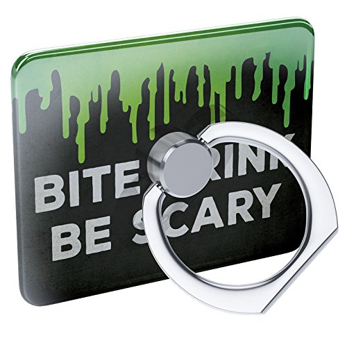 Cell Phone Ring Holder Bite Drink Be Scary Halloween Green Slime Collapsible Grip & Stand -