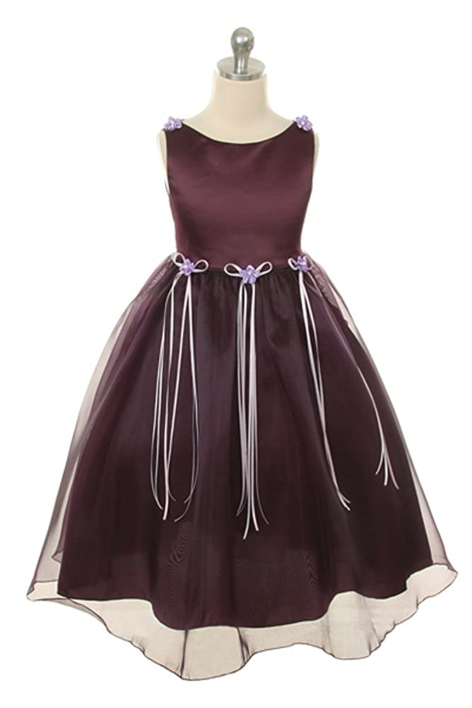 bd9ceed32400 Amazon.com  Flower Girl Rosebud Organza Dress Wedding Formal Easter ...
