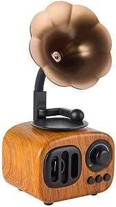 Retro Creative Wireless Bluetooth Audio, Speaker Speaker Loud Volume Phonograph Speaker Portable Mini Portable,Rosewood