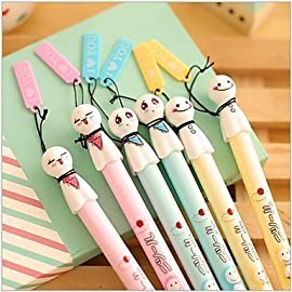 BOGOFOU Japanese Sunny Doll Ornament Black Ink Gel Pen cute creative Stationery and office supplies